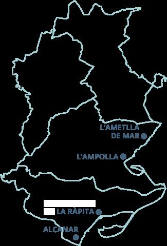 Mapa Terres De L Ebre.Jornades Gastronomiques De La Galera De Les Terres De L Ebre