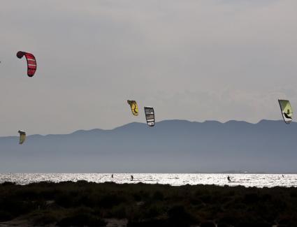 Kite surf a la badia dels Alfacs
